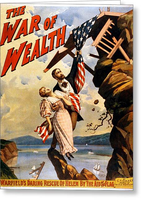 Vintage Poster - The War Of Wealth Greeting Card by Vintage Images