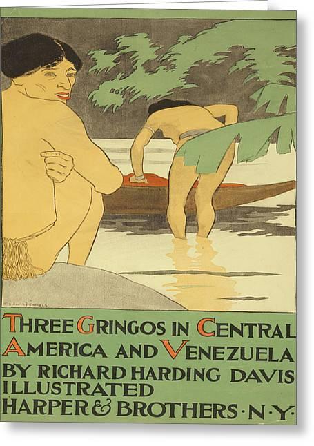 Vintage Poster - Three Gringos Greeting Card by Vintage Images
