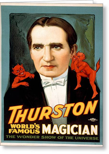Vintage Poster - Thurston Greeting Card by Vintage Images