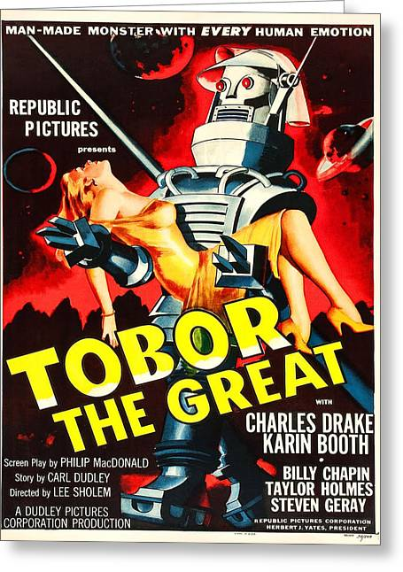 Vintage Poster - Tobor The Great Greeting Card by Vintage Images