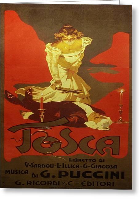 Vintage Poster - Tosca Greeting Card by Vintage Images