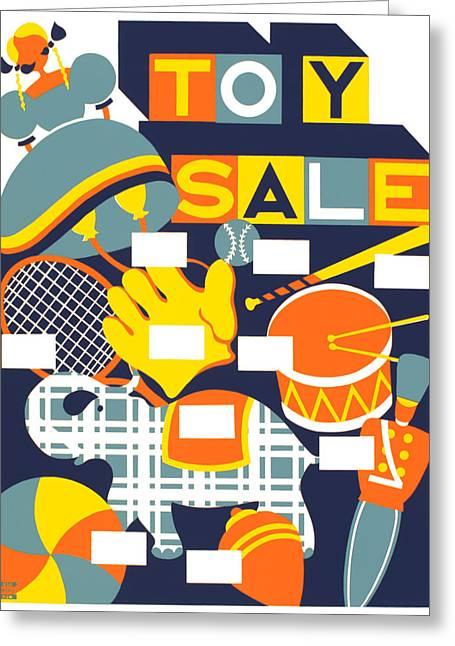 Vintage Poster - Toy Sale Greeting Card by Vintage Images