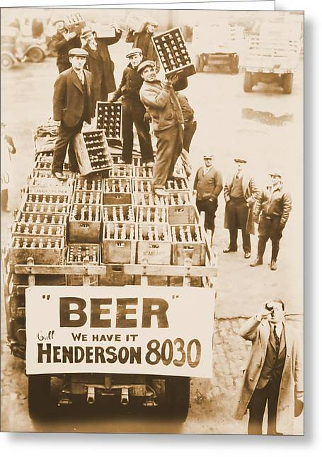 Vintage Prohibition Image Greeting Card by Dan Sproul