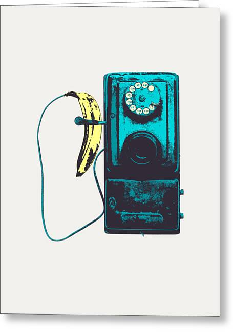 Vintage Public Telephone Greeting Card by Illustratorial Pulse
