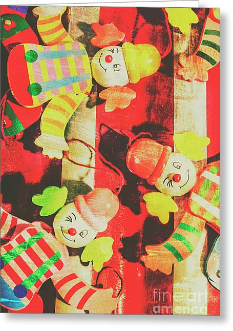 Vintage Pull String Puppets Greeting Card by Jorgo Photography - Wall Art Gallery