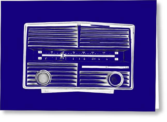 Vintage Radio Tee Greeting Card by Edward Fielding