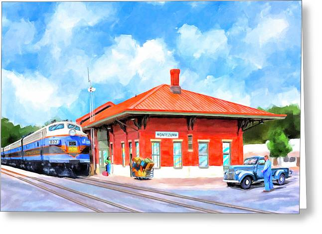 Echoes Of Railroads Past - Central Of Georgia Depot Greeting Card