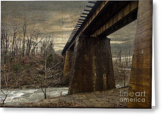 Vintage Railroad Trestle Greeting Card