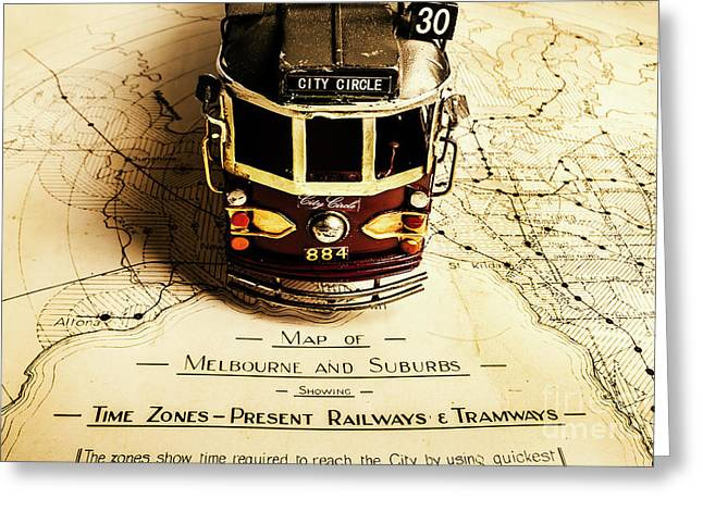 Vintage Railways And Tramways Greeting Card