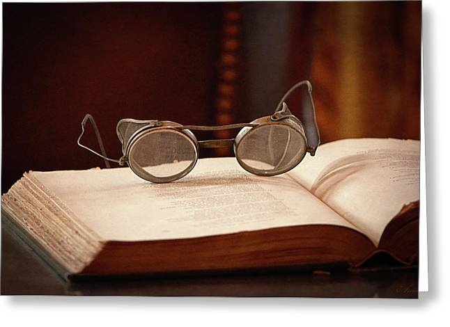Vintage Reading Glasses  Greeting Card