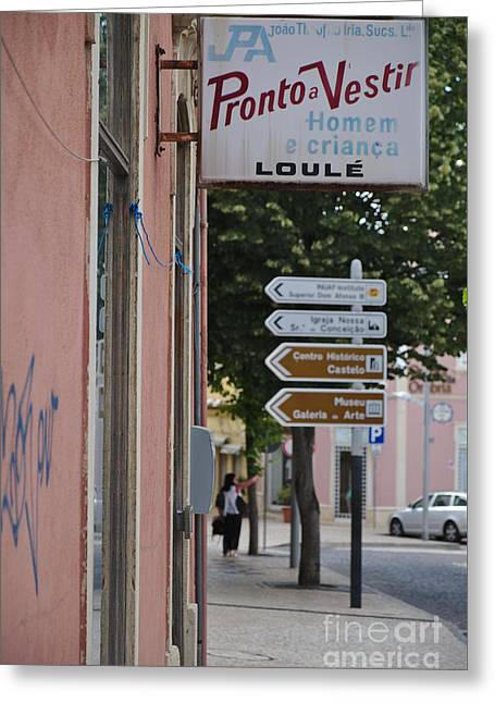 Vintage Ready-to-wear Sign In Loule Greeting Card
