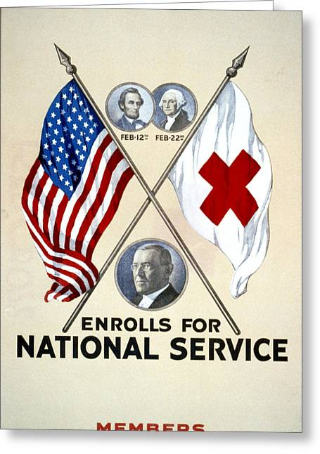 Vintage Red Cross Greeting Card