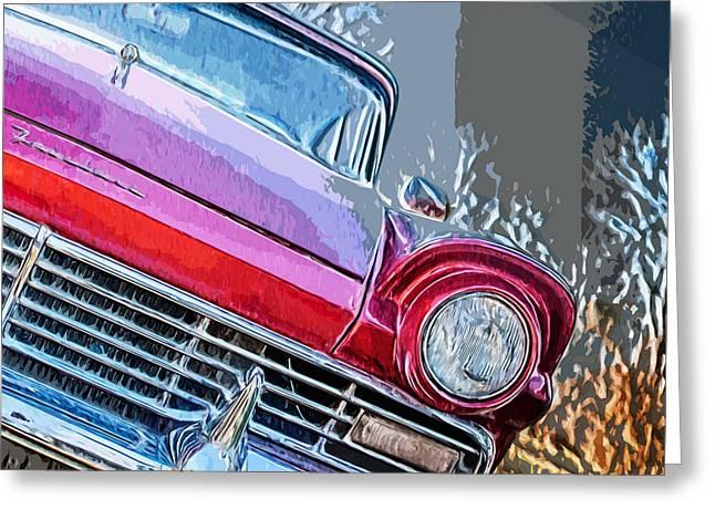 Vintage Red Thunderbird Greeting Card by Brandi Fitzgerald