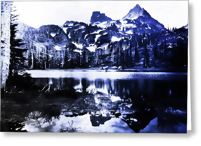 Vintage Reflection Lake  With Ripples Early 1900 Era... Greeting Card