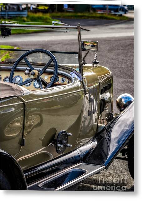 Vintage Reflections Greeting Card by Adrian Evans