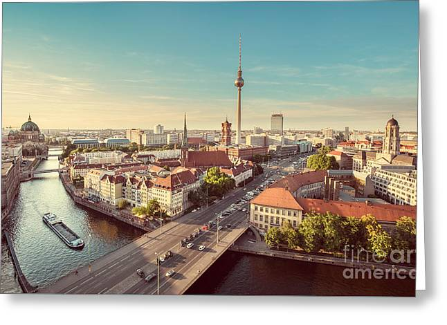 Vintage Berlin Greeting Card by JR Photography