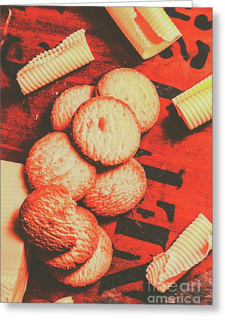 Vintage Rich Butter Shortcake Cookies Greeting Card by Jorgo Photography - Wall Art Gallery