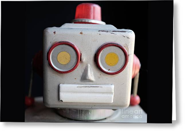 Vintage Robot 1 Dt Greeting Card by Edward Fielding