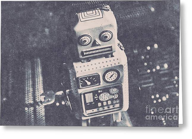 Vintage Robot Toy Greeting Card by Jorgo Photography - Wall Art Gallery