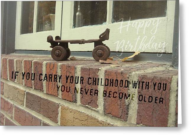 Vintage Roller Skate Quote Greeting Card by JAMART Photography