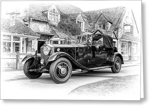 Vintage Rolls Royce  Greeting Card