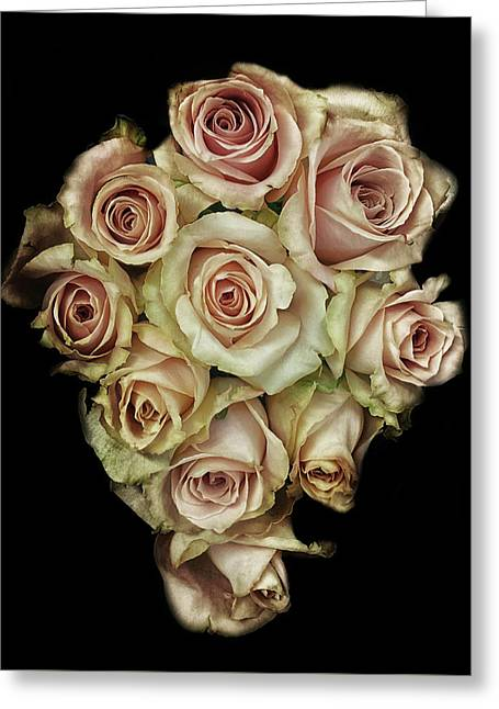 Vintage Rose Greeting Card by Martin Newman
