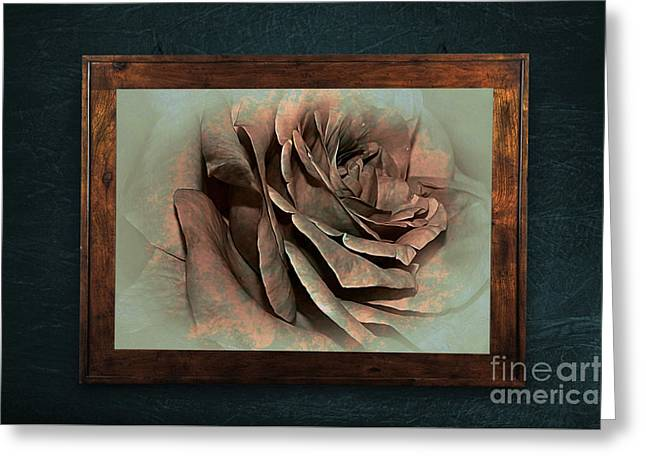 Vintage Rose On Old Wall 2 By Kaye Menner Greeting Card
