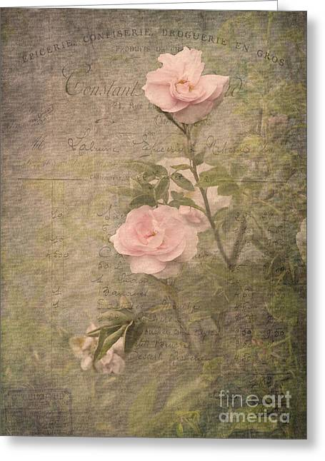 Vintage Rose Poster Greeting Card