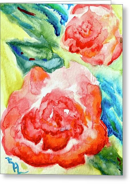 Vintage Roses Greeting Card by Beverley Harper Tinsley