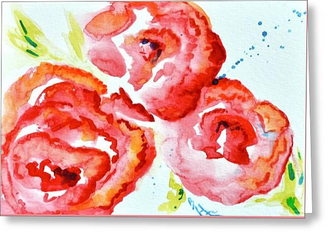 Vintage Roses II Greeting Card by Beverley Harper Tinsley