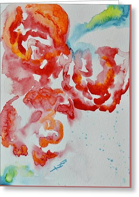 Vintage Roses IIi Greeting Card by Beverley Harper Tinsley