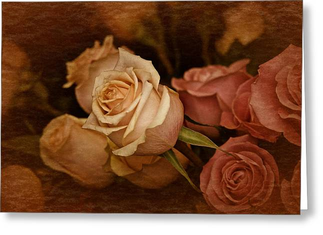 Vintage Roses March 2017 Greeting Card by Richard Cummings