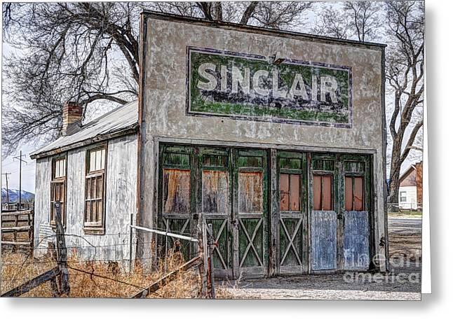 Vintage Rural Gas Station - Elberta Utah Greeting Card