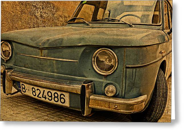 Vintage Rusty Renault Truck Greeting Card by Design Turnpike