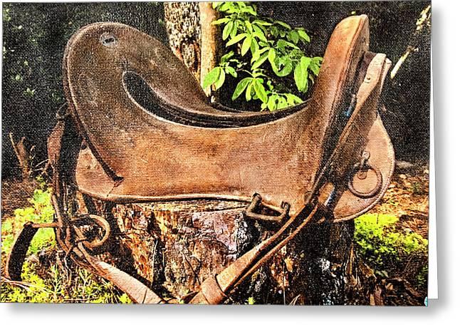 Vintage Saddle Greeting Card