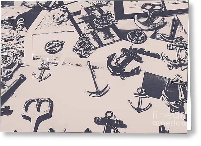 Vintage Sailing Art Greeting Card