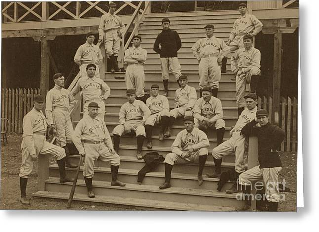 Vintage Saint Louis Baseball Team Photo Greeting Card by American School