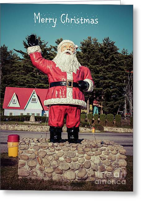 Vintage Santa Claus Christmas Card 2 Greeting Card