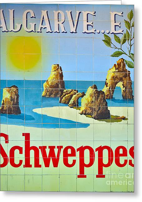 Vintage Schweppes Algarve Mosaic Greeting Card by Angelo DeVal