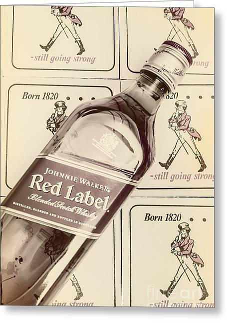 Vintage Scotch Whisky Pub Artwork Greeting Card