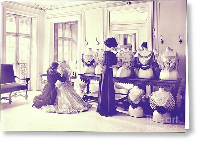 Vintage Seamstress Greeting Card