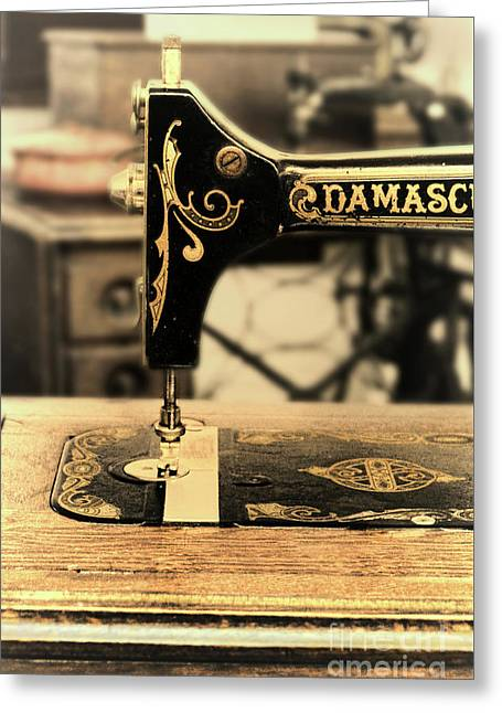 Greeting Card featuring the photograph Vintage Sewing Machine by Jill Battaglia