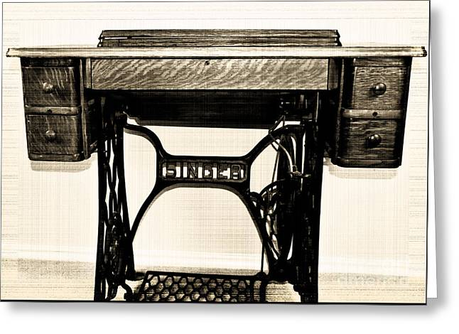 Singer Sewing Machine Greeting Cards Page 40 Of 40 Fine Art America Simple Arch Sewing Machine Company Philadelphia Pa
