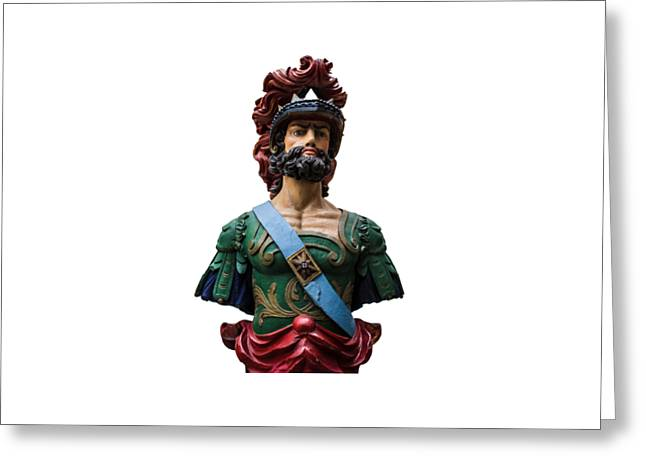 Vintage Ships Bust Greeting Card by Martin Newman