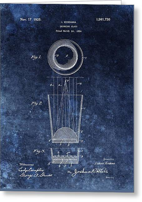 Vintage Shot Glass Patent  Greeting Card by Dan Sproul