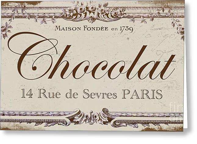 Vintage Sign, Chocolat Paris Greeting Card