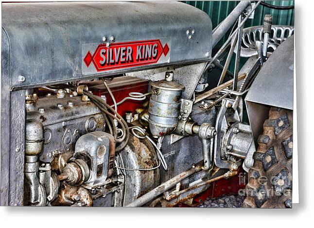 Vintage Silver King Tractor Greeting Card by Paul Ward