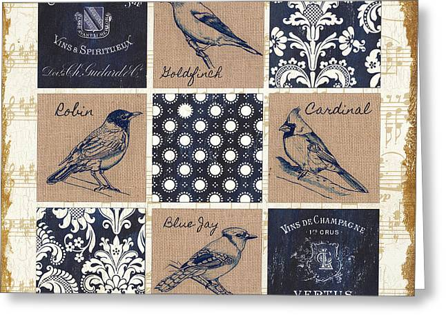Vintage Songbirds Patch Greeting Card