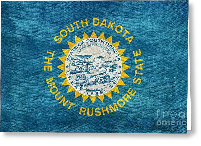 Vintage South Dakota Flag Greeting Card