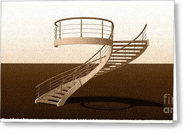 Vintage Stair 48 Escalera Caracol Helicoidal Greeting Card